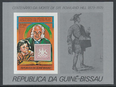 XG-K520 GUINEA-BISSAU - Rowland Hill, 1979 Stamp On Stamp 3P50 Imperf. MNH Sheet
