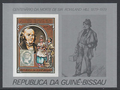 XG-K521 GUINEA-BISSAU - Rowland Hill, 1979 Stamp On Stamp, 30P Imperf. MNH Sheet
