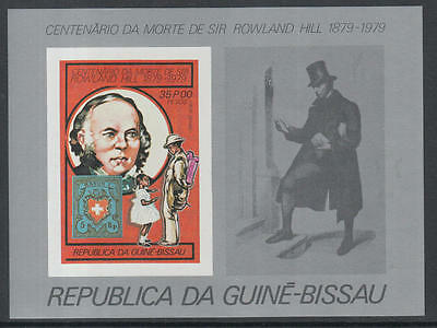 XG-K522 GUINEA-BISSAU - Rowland Hill, 1979 Stamp On Stamp, 35P Imperf. MNH Sheet