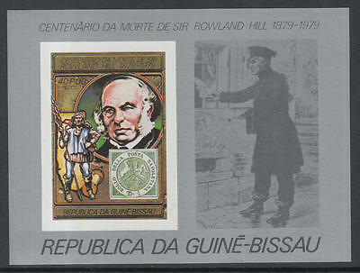 XG-K523 GUINEA-BISSAU - Rowland Hill, 1979 Stamp On Stamp, 40P Imperf. MNH Sheet