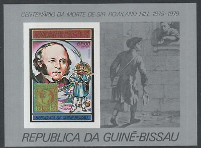 XG-K524 GUINEA-BISSAU - Rowland Hill, 1979 Stamp On Stamp, 6P Imperf. MNH Sheet