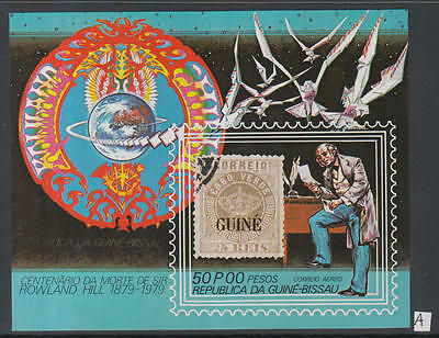 XG-K527 GUINEA-BISSAU - Rowland Hill, 1979 Stamp On Stamp, Imperf. MNH Sheet