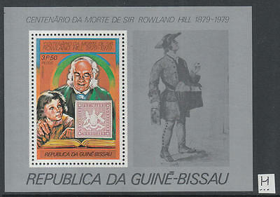 XG-K528 GUINEA-BISSAU - Rowland Hill, 1979 Stamp On Stamp, 3P50 MNH Sheet