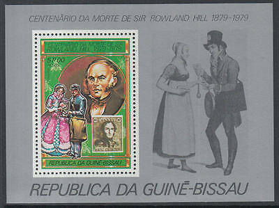 XG-K529 GUINEA-BISSAU - Rowland Hill, 1979 Stamp On Stamp, 5P MNH Sheet