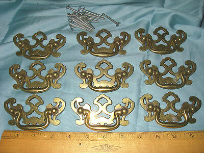 Chippendale Style Drawer Pulls Vintage Antique Hardware Furniture Set of 6