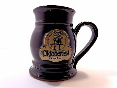 Vintage RARE 1992 OKTOBERFEST SAINT PAUL Collectible Beer Mug Stein w Emblem