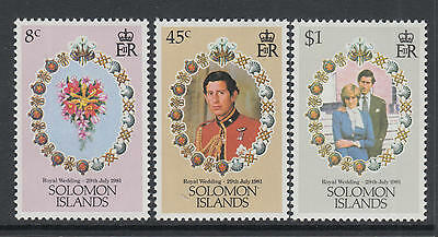 XG-L733 SOLOMON ISLANDS IND - Royal Wedding, 1981 Lady Diana, Charles MNH Set