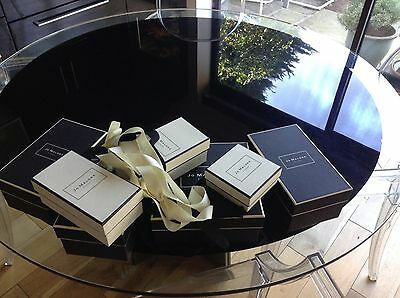 Eight Empty Jo Malone Boxes Plus Two Carrier Bags