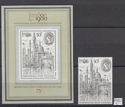 XG-V708 GB COM. '80 - Architecture, 1980 London '80, Stamp And MNH Sheet