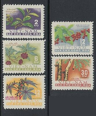 XG-M549 VIETNAM - Fruits, 1962 5 Values MNH Set