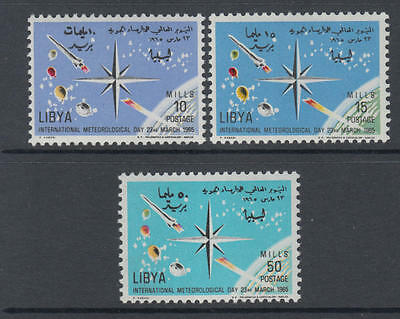 XG-M569 LIBYA - Space, 1965 Meteorology Day MNH Set