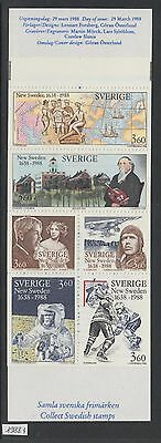 XG-V835 SWEDEN - Space, 1988 Sports, Aviation, Paintings MNH Booklet