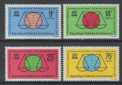 XG-M637 CAMEROON IND - Unesco, 1963 Human Rights Declaration 15Th Anniv. MNH Set