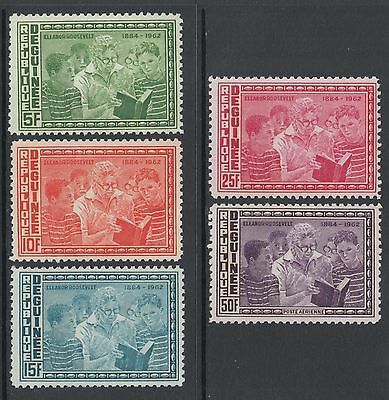 XG-M674 GUINEA - Education, 1964 Eleanor Roosevelt, Reading MNH Set
