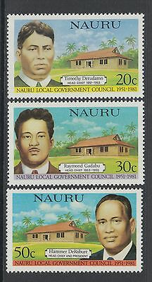 XG-M726 NAURU IND - Set, 1981 Local Government Council, 3 Values MNH