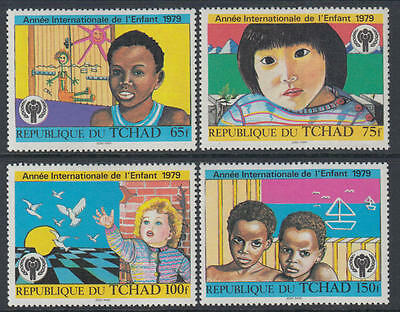 XG-M880 CHAD IND - Intl. Year Of The Child, 1979 4 Values MNH Set