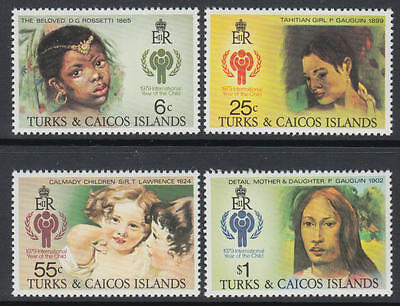 XG-M887 TURKS & CAICOS IND - Intl. Year Of The Child, 1979 4 Values MNH Set