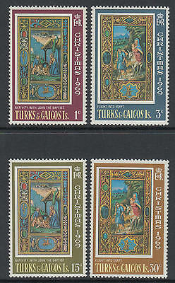 XG-M932 TURKS & CAICOS IND - Paintings, 1969 Christmas, 4 Values MNH Set