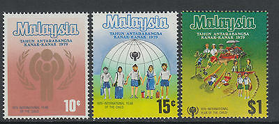 XG-M968 MALAYSIA - Intl. Year Of The Child, 1979 3 Values MNH Set
