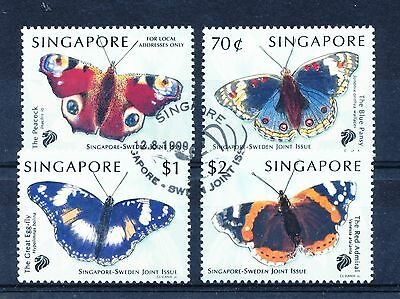Singapore 1999 Singapore-Sweden Joint Issue - Butterflies set of 4 used
