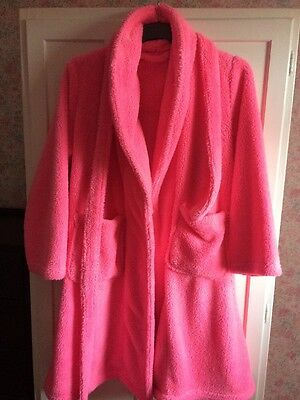 Pink Fluffy Dressing Gown 18/20