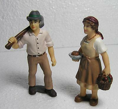 2 X Schleich Figures G Scale Retired  Farm  Model Scale People