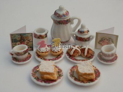 Dolls house food: Easter afternoon tea for two -By Fran