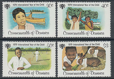 XG-N015 DOMINICA IND - Intl. Year Of The Child, 1979 Sports Farm Animals MNH Set