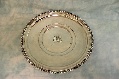 """10"""" Sterling Silver Sandwich Plate by Manchester Silver Co. # 973 7.74 oz troy"""