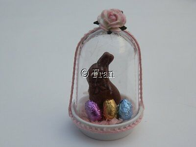 Dolls house food: Chocolate Easter bunny dome  -By Fran