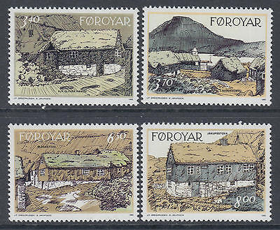 XG-N190 FAROE - Architecture, 1992 Traditional Houses MNH Set