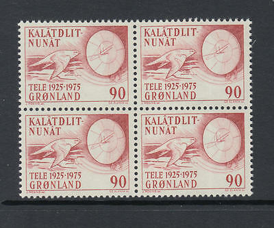 XG-N205 GREENLAND - Birds, 1975 Telecommunication, Block Of 4 MNH Set