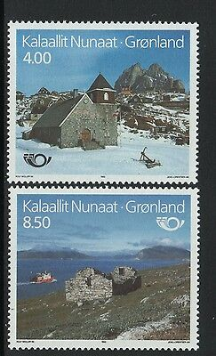 XG-N249 GREENLAND - Architecture, 1993 Tourism, Norden, 2 Values MNH Set