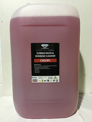 25 Litres Concentrated Cherry Screen Wash Screenwash