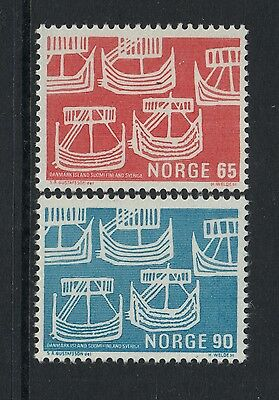 XG-N266 NORWAY - Ships, 1969 Norden Issue, 2 Values MNH Set