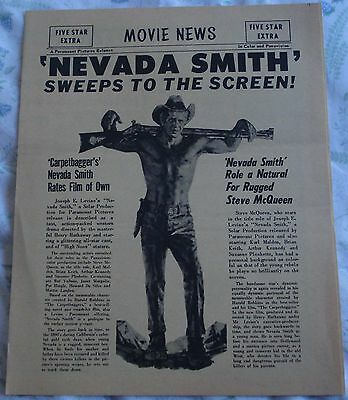 NEVADA SMITH (vintage 1966 newspaper-style herald) mint condition