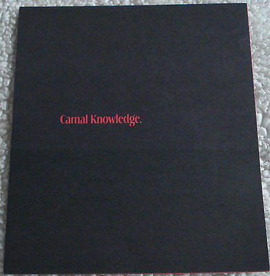 CARNAL KNOWLEDGE (vintage 1971 2-page flyer) mint condition