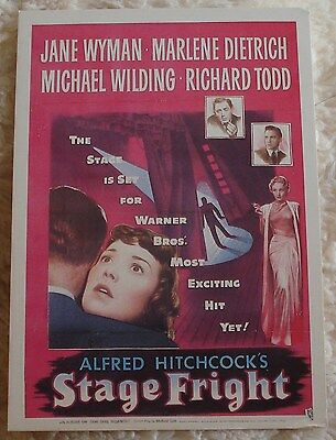 STAGE FRIGHT (postcard) near mint condition
