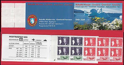 XG-N408 GREENLAND - Royalty, 1989 Queen Margrethe, Complete MNH Booklet