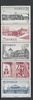 XG-N589 SWEDEN - Architecture, 1975 European Architectural Heritage MNH Set