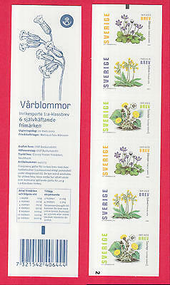 XG-N732 SWEDEN - Flowers, 2003 Adhesive Stamps MNH Booklet