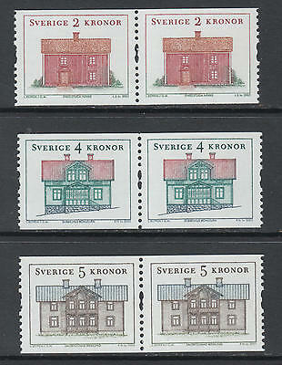 XG-N871 SWEDEN - Architecture, 2003 Houses, Pairs MNH Set