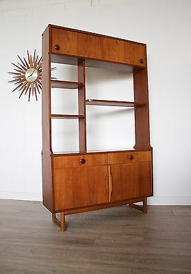 DELIVERY £60 Mid Century Retro Danish Style Teak Room Divider Bookcase Sideboard