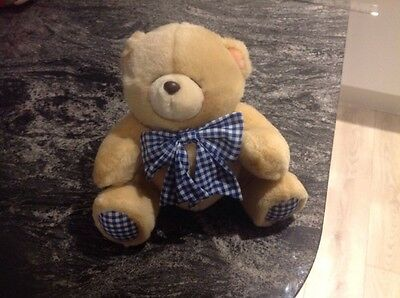 "Forever Friends Original Andrew Brownsword 8"" Bear Gingham Blue&White V.Collecti"