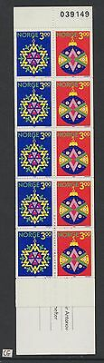 XG-W350 NORWAY - Christmas, 1989 10 Values MNH Booklet