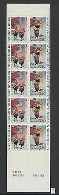 XG-W351 NORWAY - Fairytales, 1992 Gnomes, 10 Values MNH Booklet