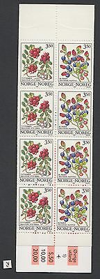 XG-W355 NORWAY - Fruits, 1995 Flowers, 8 Values MNH Booklet