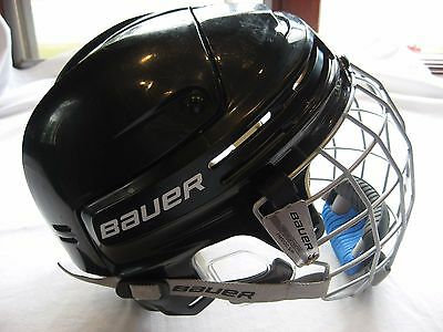 Bauer Black Hockey Helmet w/face mask Size Adult SMALL Excellent *Only used 12x*