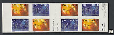 XG-W358 NORWAY - Christmas, 1997 Adhesive Stamps, 8 Values MNH Booklet