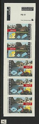 XG-W390 NETHERLANDS - Architecture, 1991 5 Values PB41 MNH Booklet